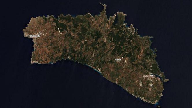 Menorca vom All aus gesehen.