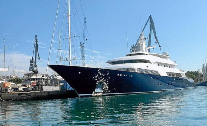 """Die """"Limitless"""" im Hafen von Palma (Archivfoto)."""