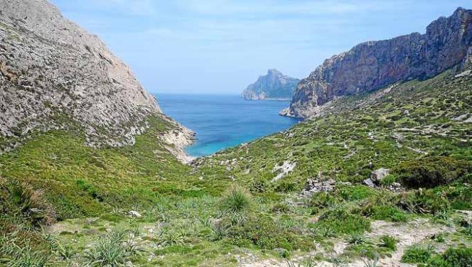 Die Cala Bóquer befindet sich inmitten des Tramuntana-Gebirges.
