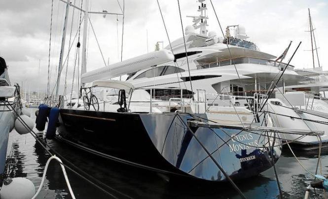 "Die 34 Meter lange ""Cygnus Montanus"" befindet sich im Sporthafen Club de Mar in Palma."