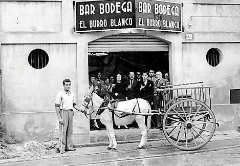 PALMA - ANTIGUA IMAGEN DEL BAR BODEGA EL BURRO BLANCO.