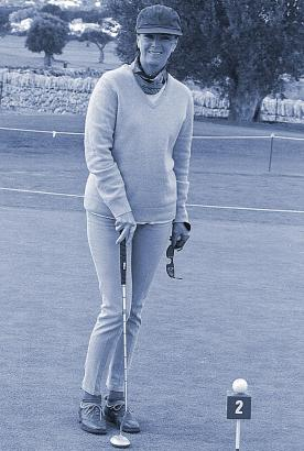 Abba-Sängerin Frida 1998 beim Golfen in Andratx.