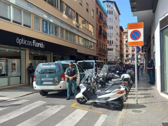 Zahlreiche Polizisten befanden sich am Mittwoch in Palma im Einsatz.