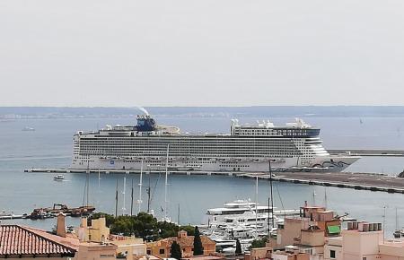 Die Norwegian Epic am Montag im Hafen von Palma.