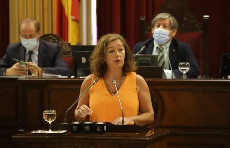 Francina Armengol am Montag im Regionalparlament.