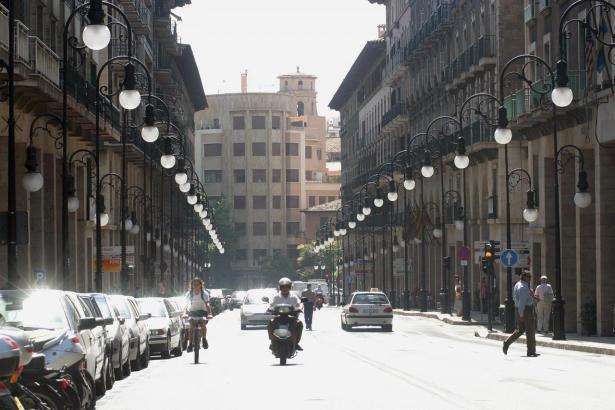 So sieht die Einkaufsmeile Jaume III. aus.