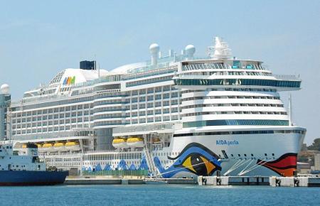 Die Aida Perla ist derzeit oft im Hafen von Palma zu sehen.