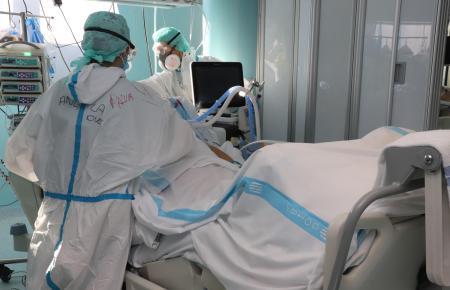 Die Zahl der Coronapatienten auf Intensivstationen ist momentan relativ niedrig.