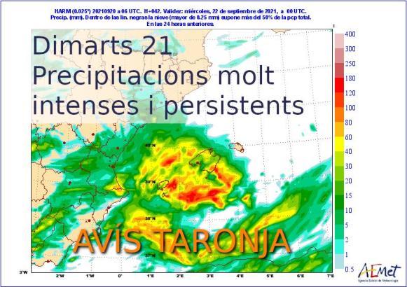 Über den Balearen befindet sich ein größeres Tiefdruckgebiet.