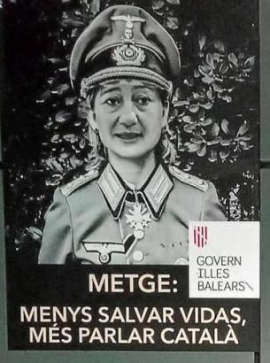 So wurde Francina Armengol auf den Plakaten gezeigt.,
