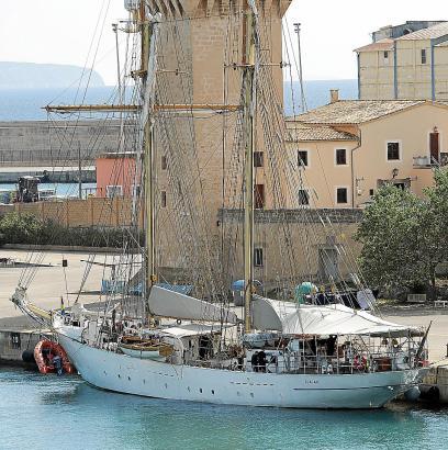 Die Gladan liegt seit vergangenem Montag am Porto Pì.