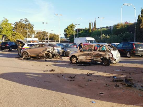 So sah es nach dem Vorfall an der Unfallstelle aus.