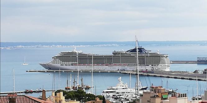 """Die """"Preziosa"""" am Mittwoch im Hafen von Palma."""