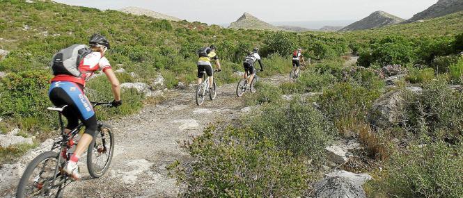 Radtouristen auf Mallorca.