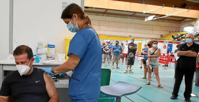 Impfaktion auf Mallorca.
