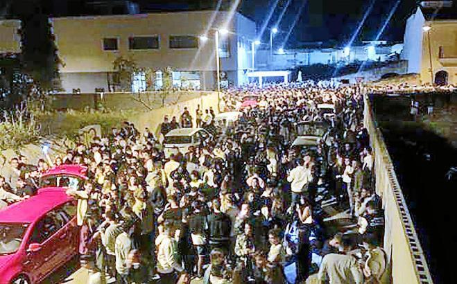 So sah es in der Nacht zum Samstag in Muro aus.