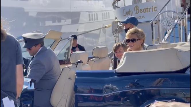 """""""Lady Di"""" am Montag im Hafen von Palma."""