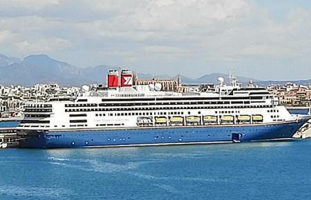 Das britische Schiff machte am Mittwoch in Palma de Mallorca fest.