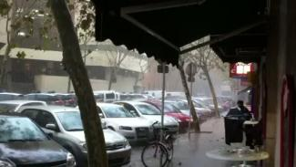 Regenschauer in Palma