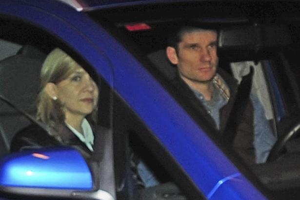 Die Infantin Cristina und ihr Mann Iñaki Urdangarin am 24. Februar kurz nach der Ankunft in Palma.