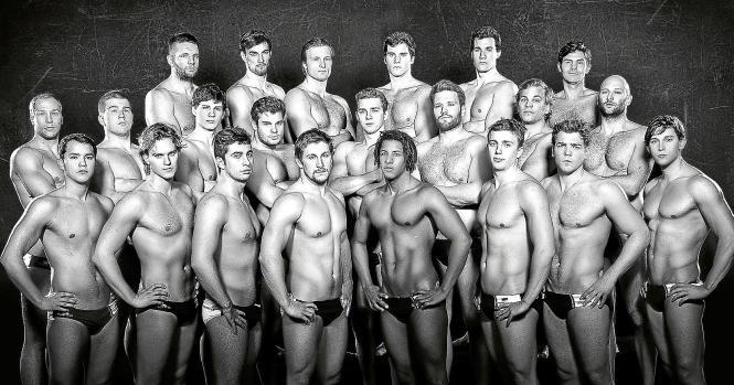 Damit auch die Damen mal zum Zuschauen kommen: Die Auswahl der deutschen Wasserballer.