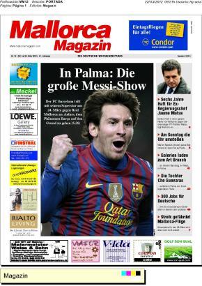 Lionel Messi ziert die Titelseite der aktuellen MM-Printausgabe.