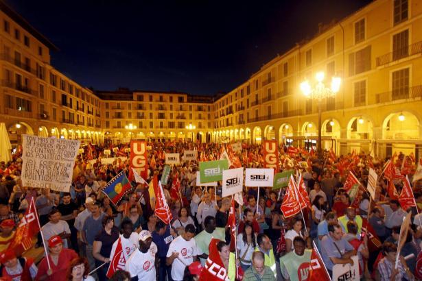 Kundgebung beim Generalstreik von 2010 in Palma.