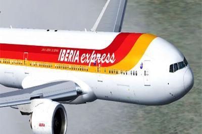 Erster Iberia-Express-Flug zwischen Madrid und Mallorca.