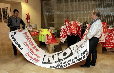 Generalstreik auf Mallorca 29. März 2012