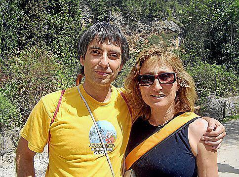 Antònia Fuster und Emili Gallardo organisierten die Wanderung durch das Coanegra-Tal.