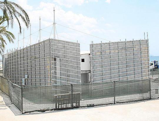 In der heißen Bauphase: Im Anima Beachclub soll Platz für 300 Gäste sein.