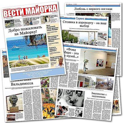"""Füllt eine Lücke: """"Vesti Mallorca"""", die erste russischsprachige Lokalzeitung auf Mallorca."""