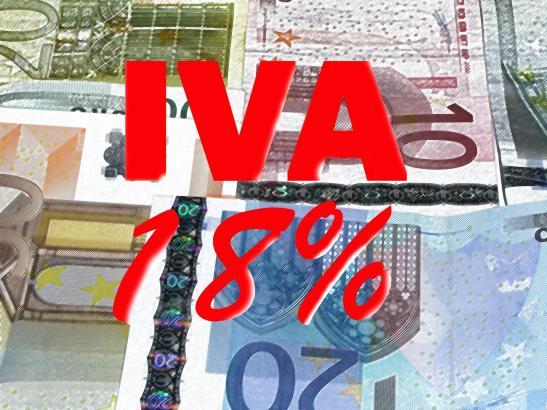 Seit Sommer 2010 liegt der volle Mehrwertsteuersatz (IVA) in Spanien bei 18 Prozent.