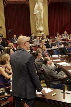 Momentaufnahme während der Debatte vor der Abstimmung am Dienstag.