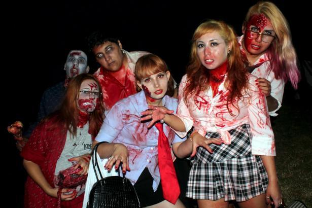 "Kostümierungsspektakel ""Mallorca Zombie Marsch"" am 28. Juli 2012 in Palma."