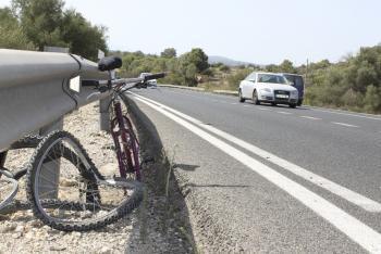 Die Unfallstelle, an der der Radfahrer sein Leben verlor.