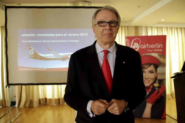 Álvaro Middelmann verlässt Air Berlin zum 1. Januar 2013.