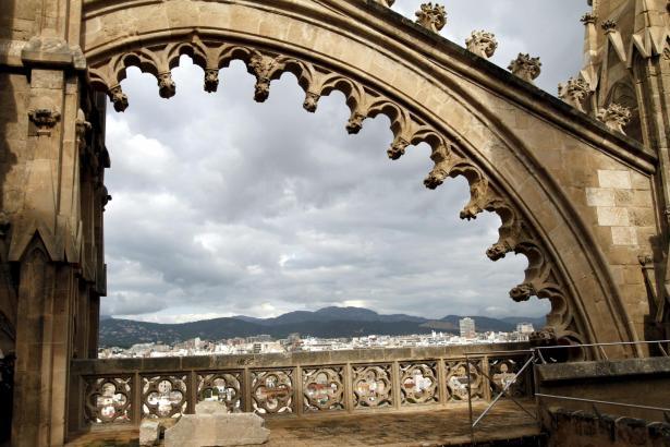Dieses Foto von den Dachterrassen der kathedrale entstand bei einem früheren Besuch.