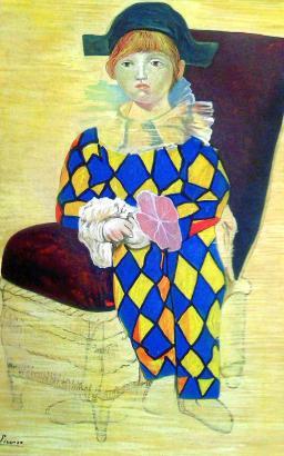 Als wären sie echt: Pablo Picassos Bild seines Sohnes Paul als Harlekin, gemalt von Elmyr de Hory.