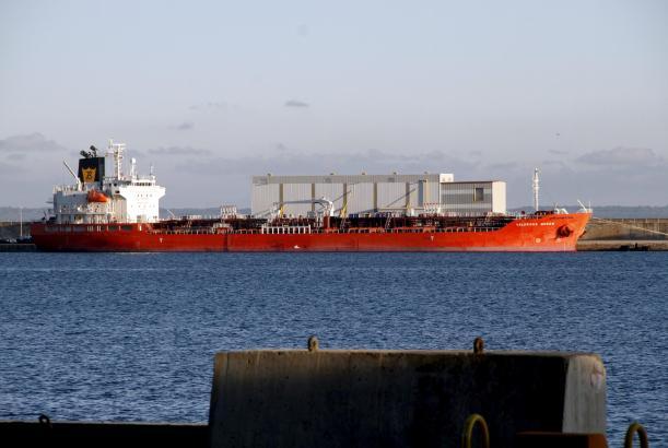 """Die """"Valorous Queen"""" legte problemlos am Westkai in Palmas Hafen an."""
