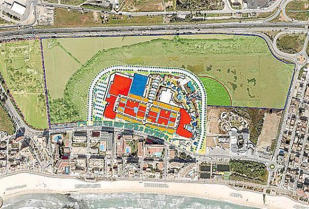 Die Grafik zeigt die Planung für das Einkaufszentrum.
