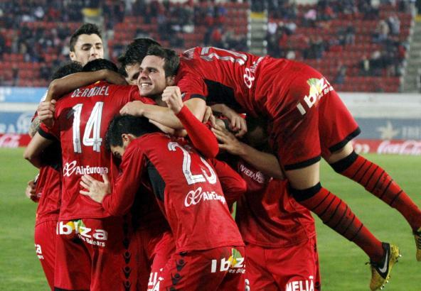 Riesenjubel über den späten Ausgleich – Real Mallorca befreit sich langsam wieder von der sportlichen Krise.