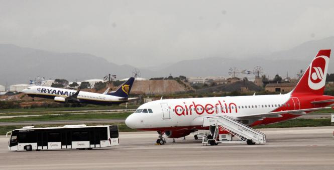 Air-Berlin-Maschine am Airport Palma.