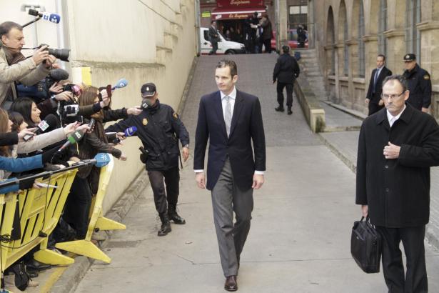 Iñaki Urdangarin auf dem Weg zum Ermittlungsrichter in Palma, im Februar 2012.