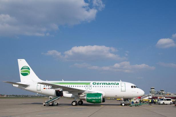 Eine Maschine der Charter-Fluggesellschaft Germania.