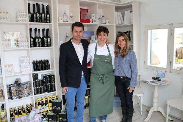Juan Carlos Maroto (Gin Mare), Macarena de Castro und Laura Calvo (Flor de Sal).