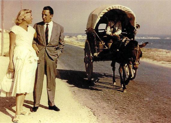 Ehepaar Schulze 1957 in Can Pastilla.