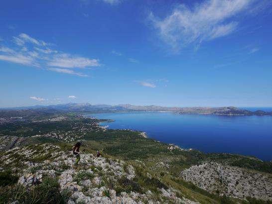 So blau zeigte sich am vergangenen Wochenende die Bucht von Pollença.