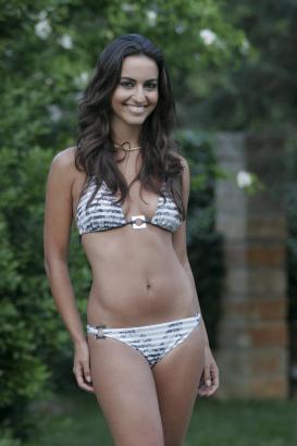 Verónica Hernández kurz vor ihrer Wahl zur Miss Baleares.