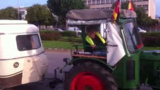 Per Traktor nach Mallorca
